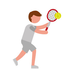 ethlete practicing tennis avatar vector image