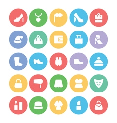 Fashion Colored Icons 3 vector