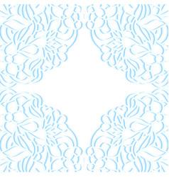floral paper frame vector image