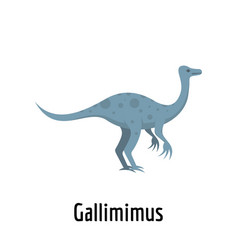 Gallimimus icon flat style vector