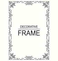 geometric line frame template vector image