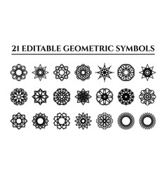geometric ornaments set vector image
