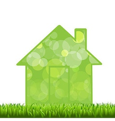 Grass And House vector image