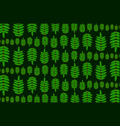 green leaf of rowan on dark background vector image