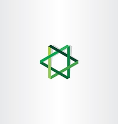green star logo sign vector image vector image