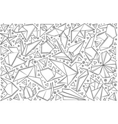 hand drawn paper origami vector image