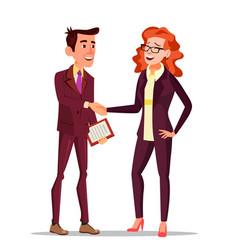 happy client business concept suit vector image