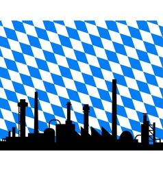 industry and flag of bavaria vector image