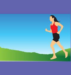 Jogging in morning vector