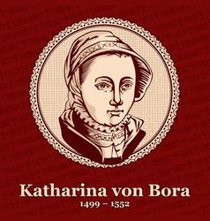 Katharina von bora was the wife of martin luther vector