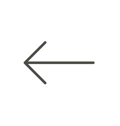 left arrow icon previous line back symbol vector image