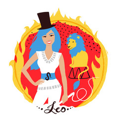 leo zodiac sign vector image