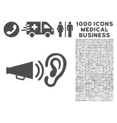 Listen Sound Icon with 1000 Medical Business vector image