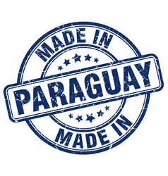 Made in paraguay blue grunge round stamp vector