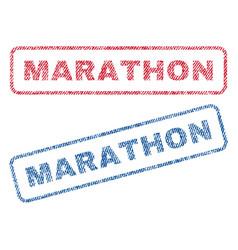 Marathon textile stamps vector