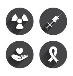 Medicine icons Syringe life radiation vector
