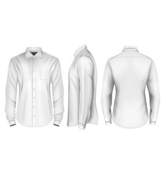 Mens long sleeved formal vector