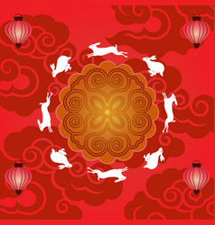 mid autumn festival banner vector image