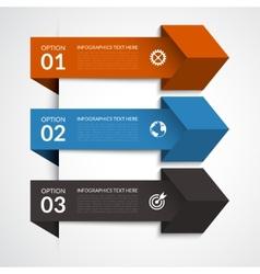 Modern arrow infographic elements vector