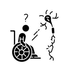 Multiple sclerosis black glyph icon vector