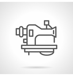 Old sewing machine black line icon vector image