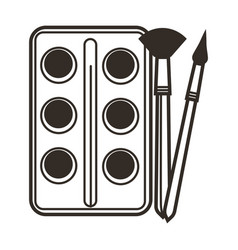 paint and paintbrushes isolated icon art class vector image