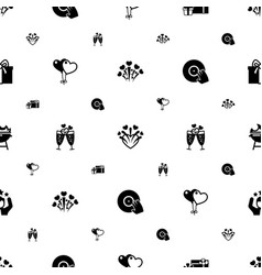 party icons pattern seamless included editable vector image