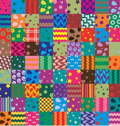 patchwork fabric vector image
