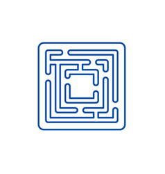 path in maze line icon concept path in the vector image