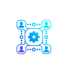 people interacting management icon vector image