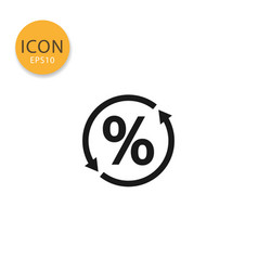 percent icon isolated flat style vector image