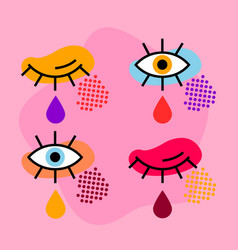 Pop art eyes vector