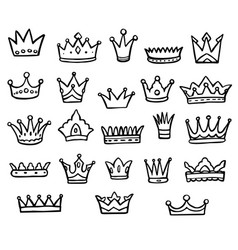 Queen or king crown logo graffiti isolated icon vector