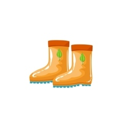 Rubber Boots As Autumn Attribute vector