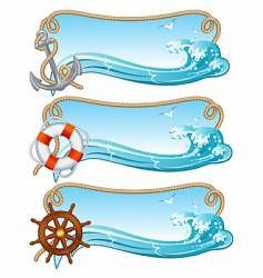 sailing banner vector image