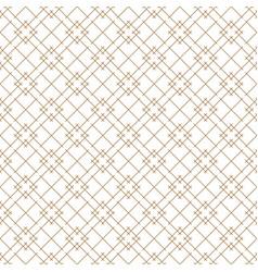 seamless japanese pattern shoji kumiko in brown vector image