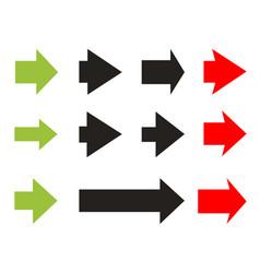 Set color arrows vector
