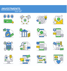 set of digital money services finance and vector image
