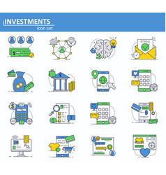 set of digital money services finance vector image