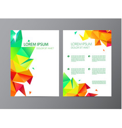 set of document letter or logo style cover vector image