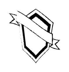 Shield guarantee premium label sketch vector