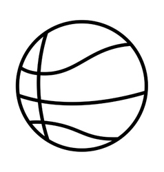 Silhouette monochrome with basketball ball vector