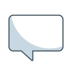 speech bubble message line icon vector image