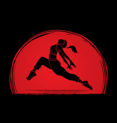 Street dance b boys dance hip hop dancing vector