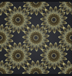 Tapestry floral abstract 3d seamless mandala vector