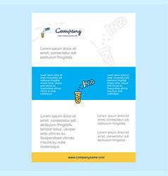 Template layout for chemical reaction comany vector