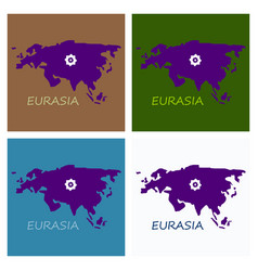 Territory of eurasia vector