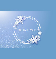Thank you card merry christmas and happy new year vector