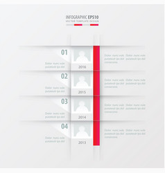 Timeline report design template pink gradient vector