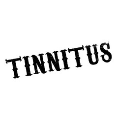 tinnitus rubber stamp vector image